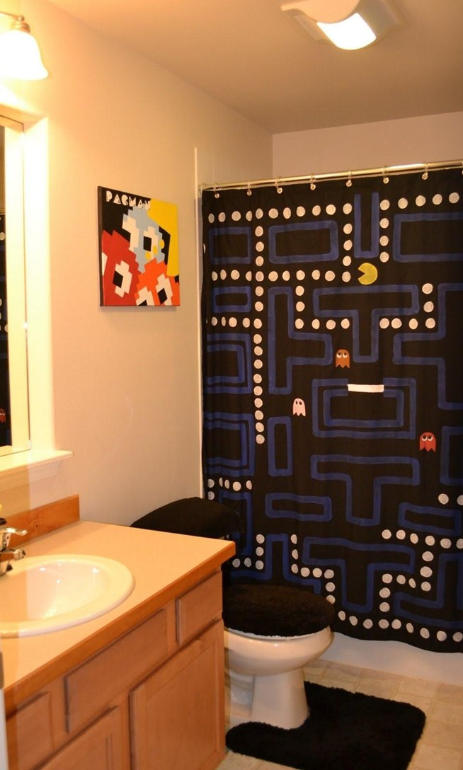 How To Make An Amazing Pac Man Shower Curtain Macgyverisms