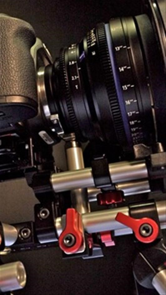 Zeiss Compact Prime Lens + Zacuto DSLR Baseplate