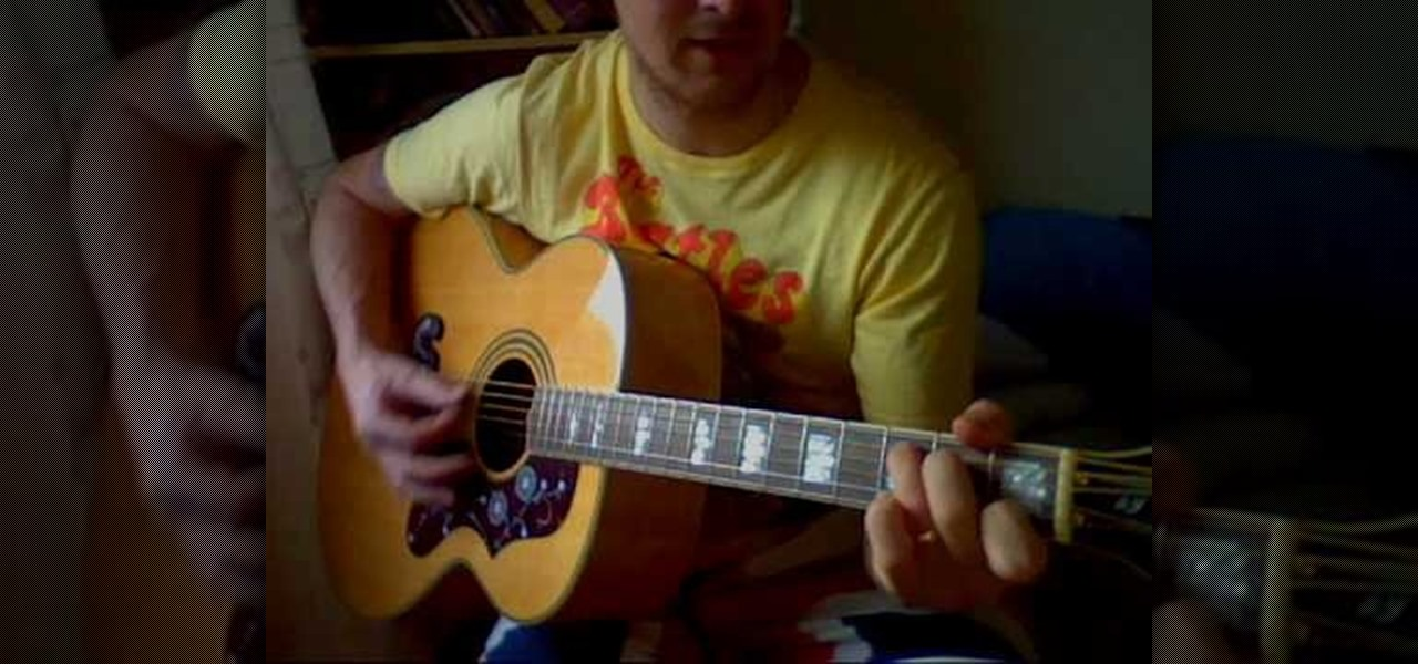how to play you send me on guitar