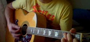 """Play """"From Me To You"""" by The Beatles on guitar"""