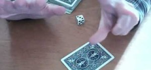 Perform a dice prediction card trick