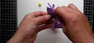 Make a purple felt flower