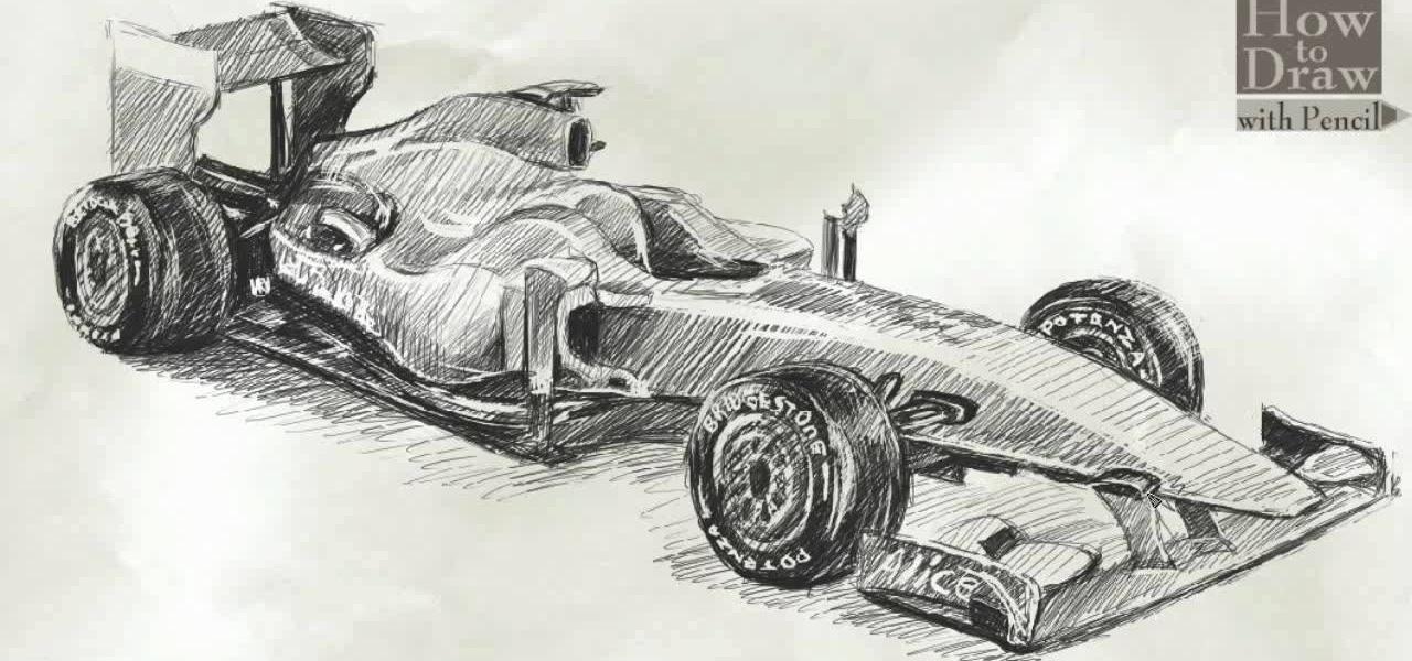 How To Draw A Formula 1 Ferrari F60 Drawing Illustration Wonderhowto