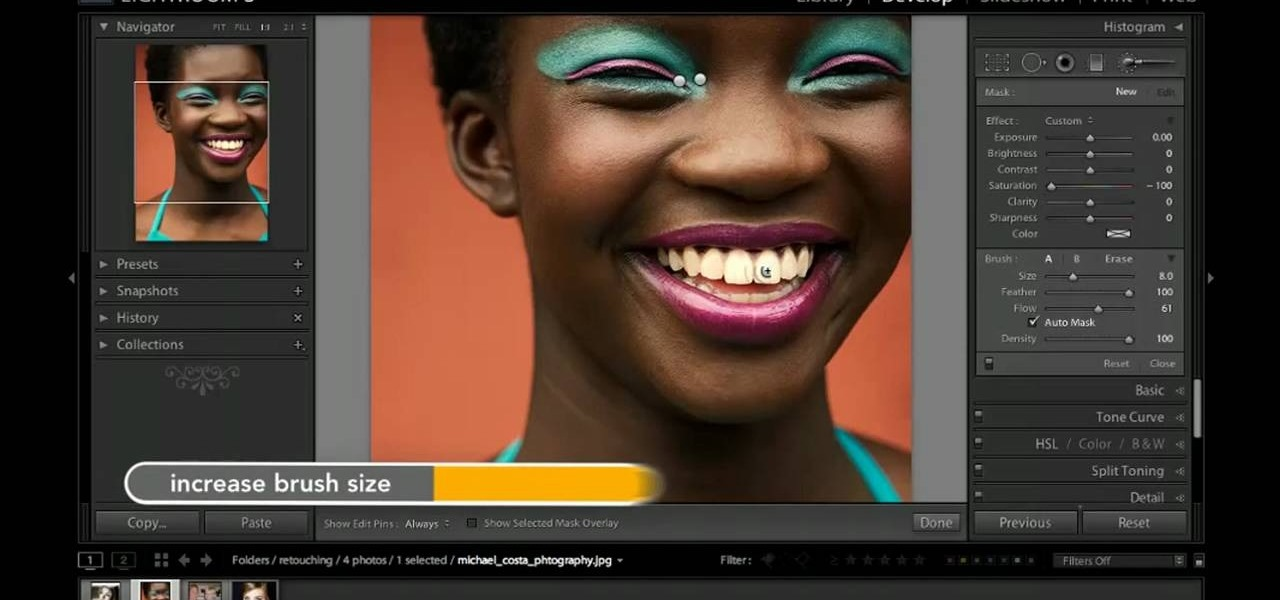 How To Use Adobe Lightroom To Whiten Teeth In A Digital