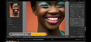 Use Adobe Lightroom to whiten teeth in a digital photo