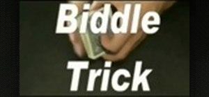 Perform the biddle magic trick
