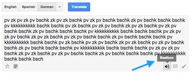 Google translate beatbox text
