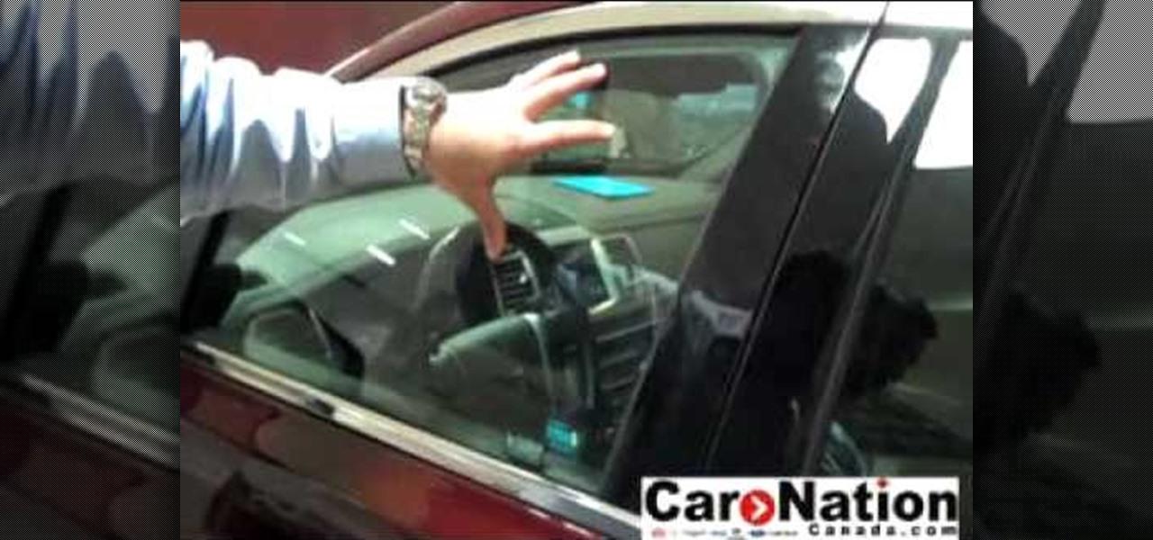 how to break into a locked door car