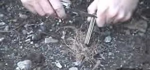 Make fire with a magnesium fire tool