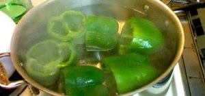 Make stuffed green bell pepper cups