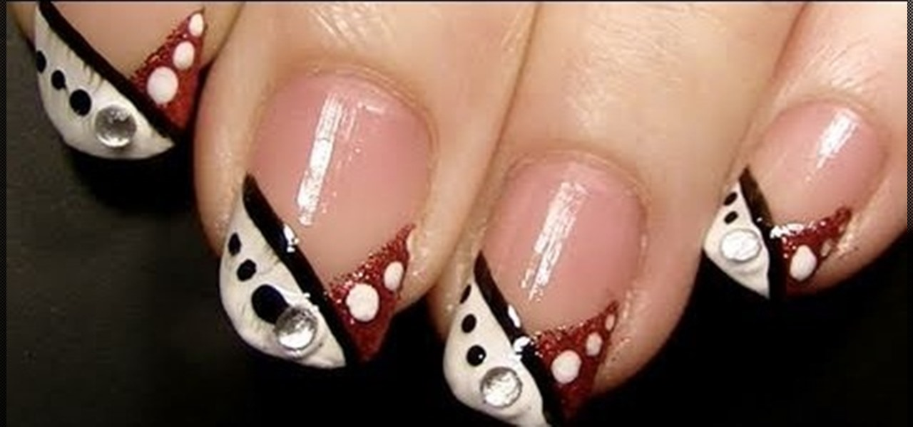 how to create a festive red and white christmas nail look nails manicure wonderhowto - White Christmas Nails