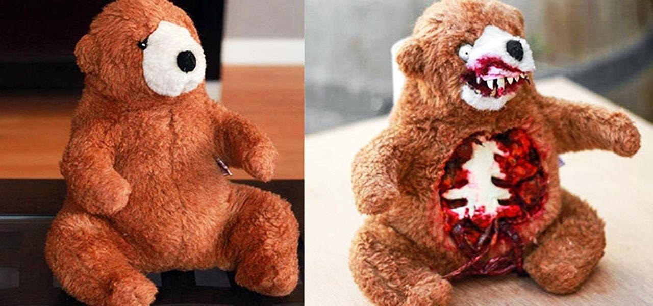 Turn a Cute & Innocent Teddy Bear into a Man-Eating Grizzly Zombie for Halloween