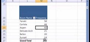 Create frequency distributions with Excel pivot tables