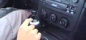 Drive a manual transmission car or truck