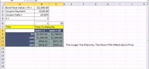 Calculate interest rate risk in Microsoft Excel