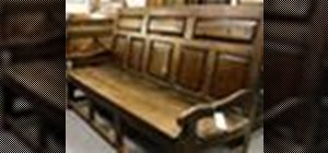 Determine whether an antique is real when shopping for antique furniture