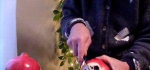 Cut into a pomegranate