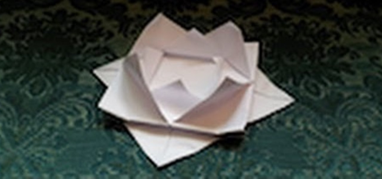 Make an Origami Water Lily