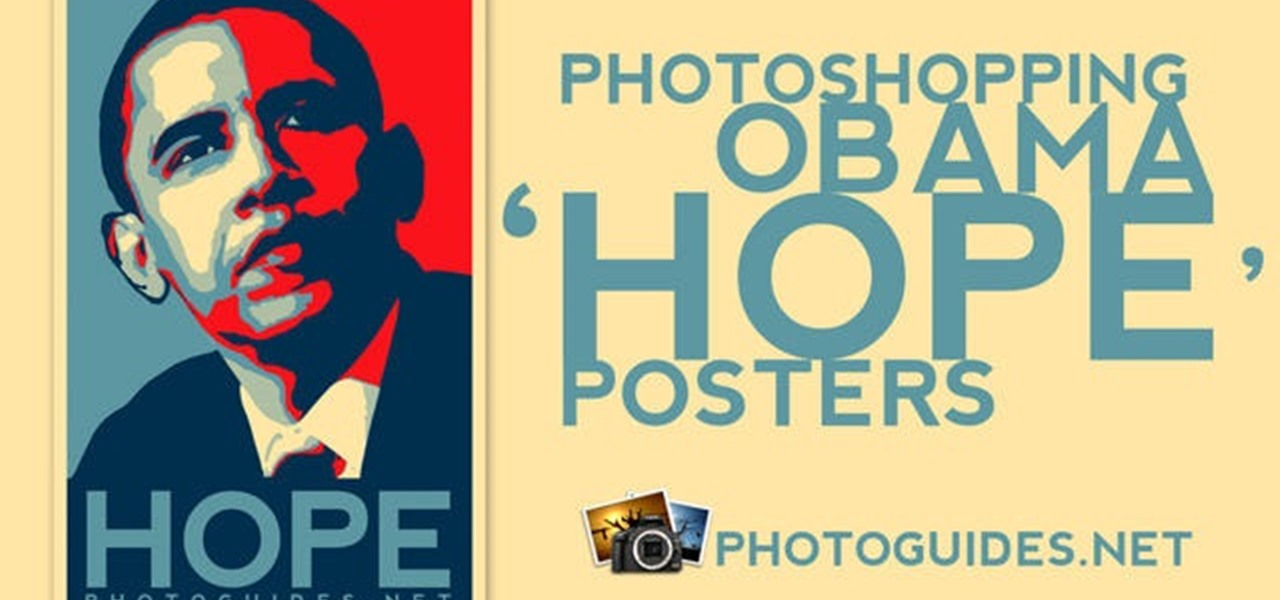 how to create a shepard fairey hope poster in photoshop