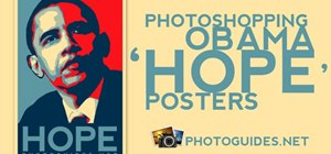 "Create a Shepard Fairey ""Hope"" poster in Photoshop"