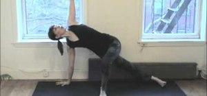 Practice the plank core strengthening yoga posture