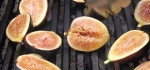 Make burrata cheese bruschetta with grilled figs