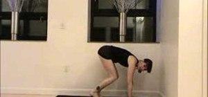 Practice a core-strengthening yoga handstand