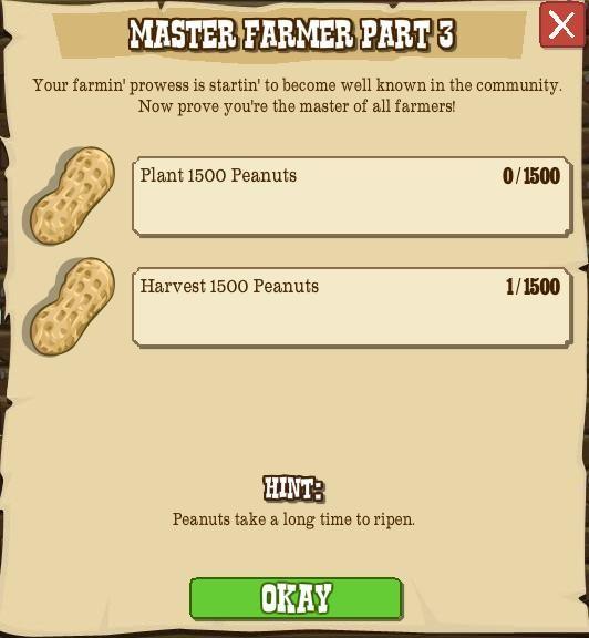 Goal: Master Farmer