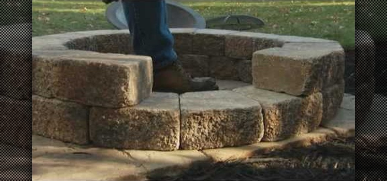 How to build a fire pit with lowe 39 s landscaping for How to build a fire pit with concrete blocks