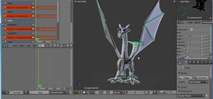 Animate a dragon in flight with Blender animation software