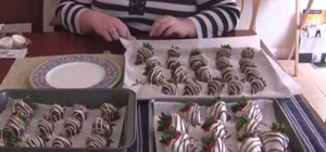 Make chocolate covered strawberries for dessert