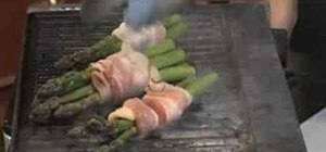 Grill bacon wrapped asparagus