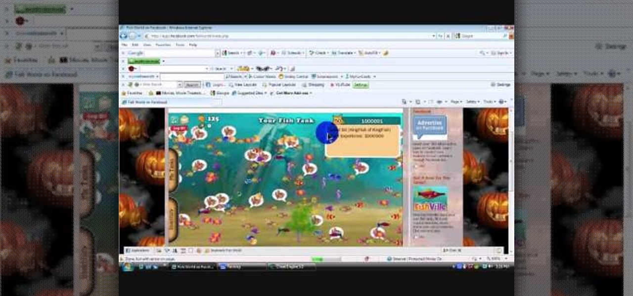 How to hack levels and money in fish world 11 16 09 for Fish for money app