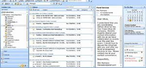 Arrange email messages by date or sender in Microsoft Outlook 2007