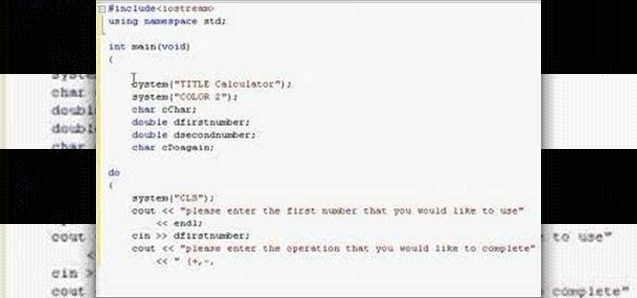How to Create a calculator script in C++ « C++