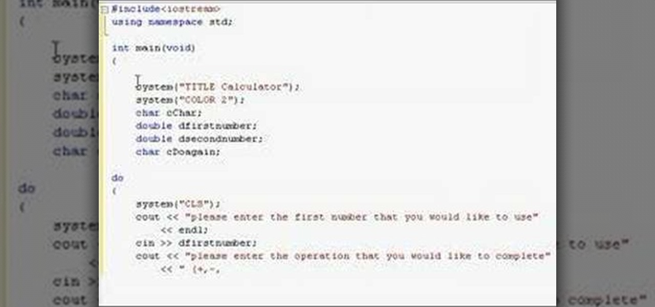 C++ – Program to Make Simple calculator in C++