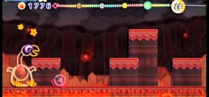 Beat the Hot Wings boss fight in Hot Land of Kirby's Epic Yarn for the Wii