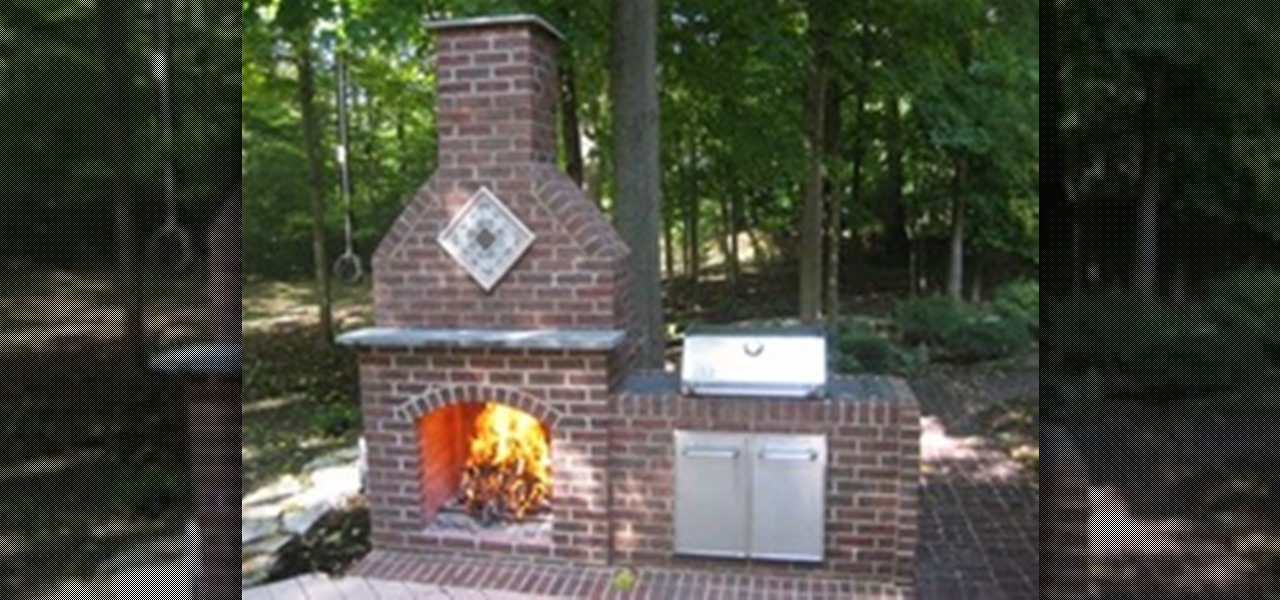 how to build an outdoor brick fireplace construction