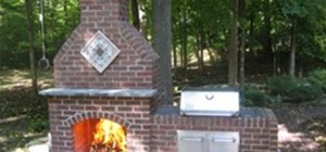 Build an Outdoor Brick Fireplace
