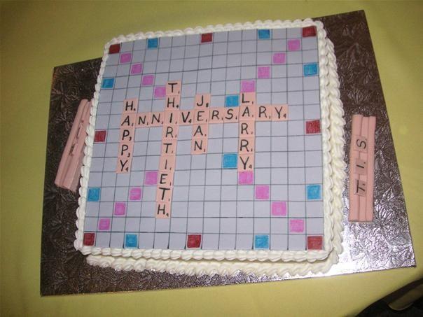 Scrabble cakes!