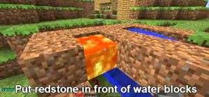 Make an Obsidian farm using Redstone in Minecraft