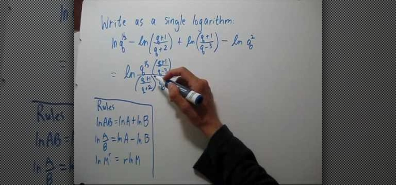 write as a sum or difference of logarithms
