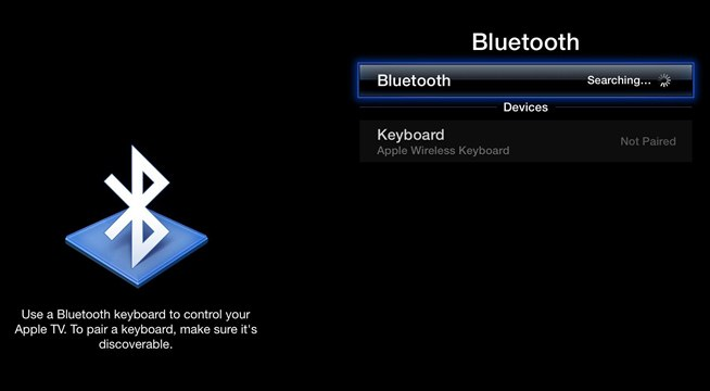 Apple tv Remote Keyboard Into an Apple tv Remote