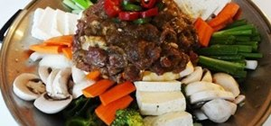 Cook Korean bulgogi stew (jungol)