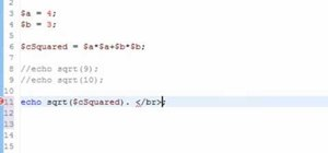 Make calculations with the Pythagorean theorem when coding in PHP