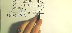 Divide complex numbers in algebra