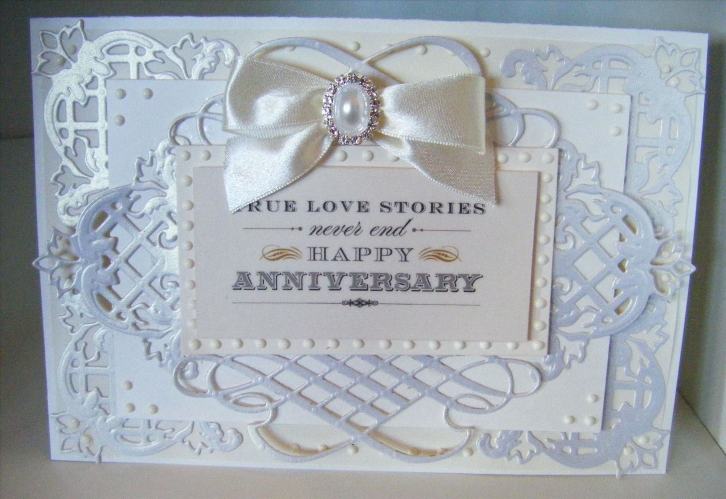 How to Make a Tone on Tone Ivory Ornate Card