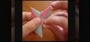 Make a mennorode star from folded paper with origami