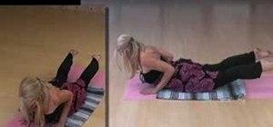 Practice a yoga back bend routine with Deborah York