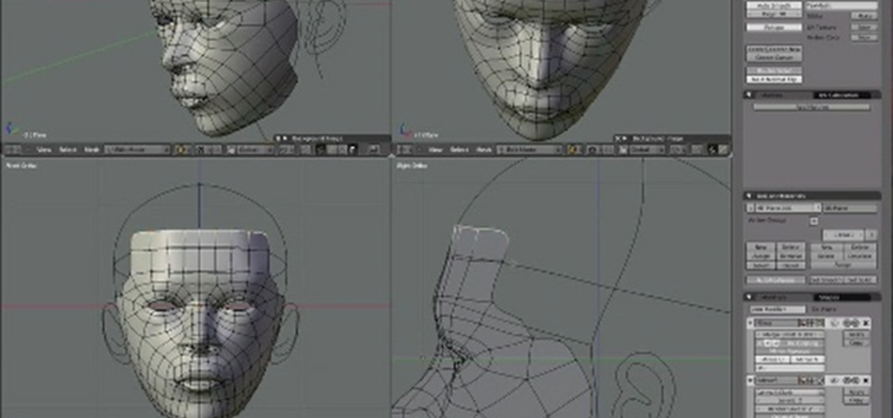 how to create a realistic 3d model of a human head in